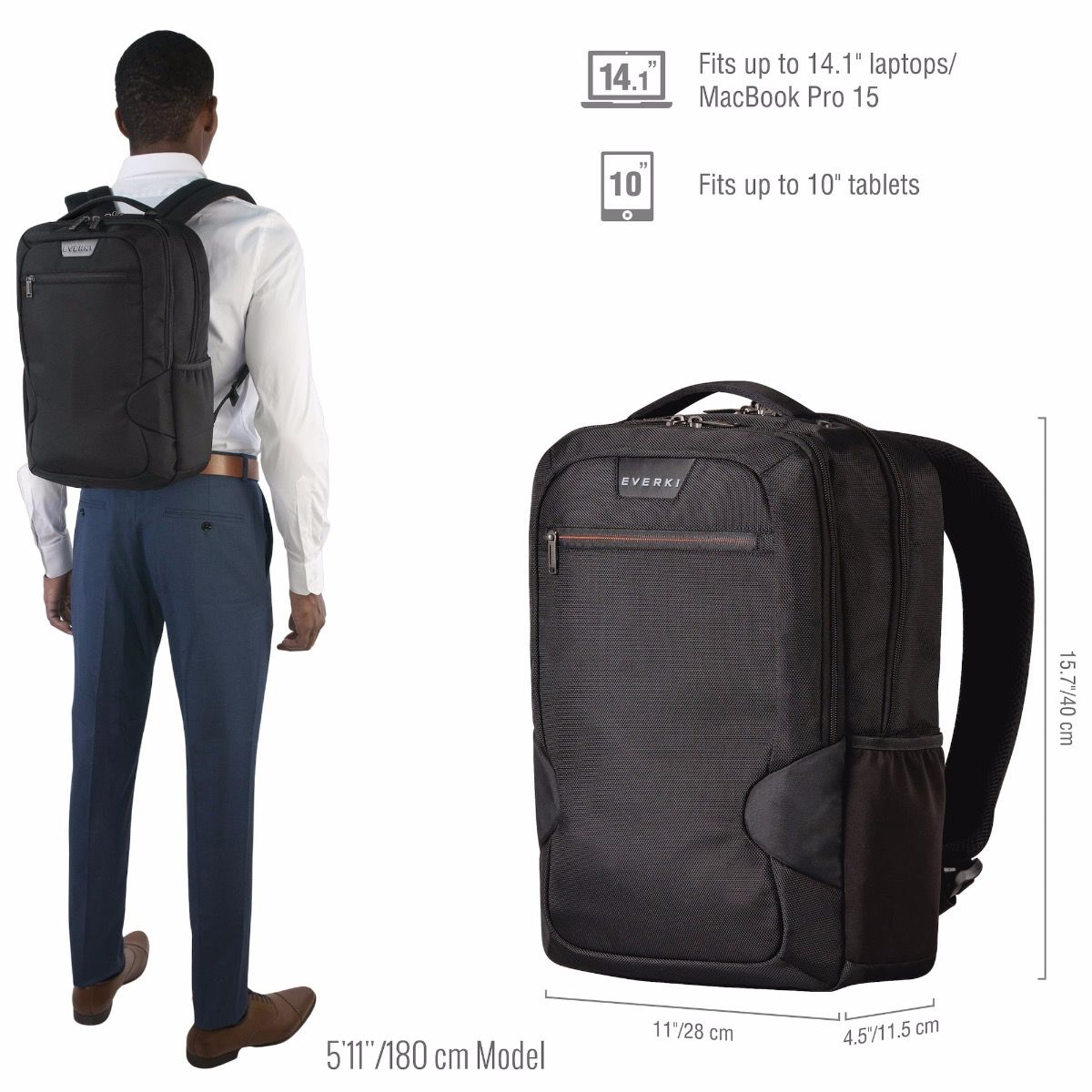 Studio Slim Laptop Backpack Up To 14 1 Inch Macbook Pro 15 Everki