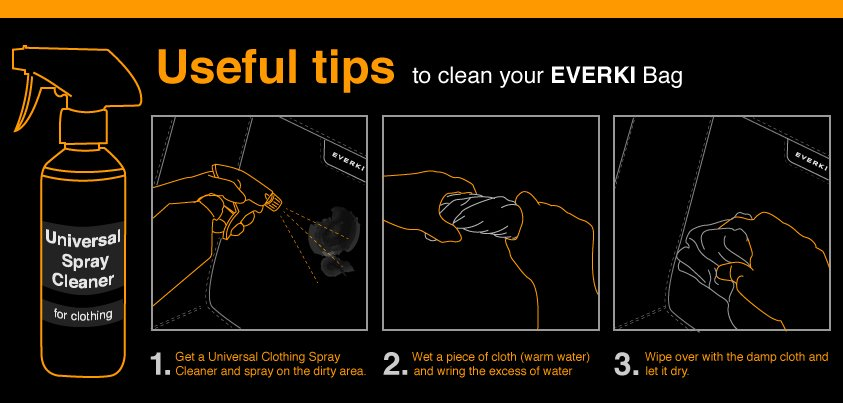 EVERKI cleaning instruction